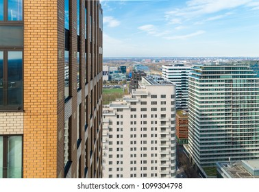 Modern skyline at the amsterdam south-axis, the financial district of the dutch capital