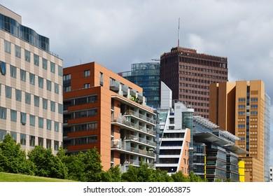 Modern Skyline at the Square Potsdamer Platz, Tiergarten, Berlin - Shutterstock ID 2016063875