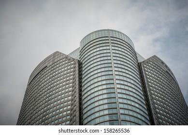 modern skyscraper in downtown Tokyo in Japan