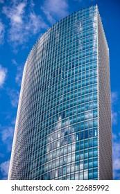 Modern skyscraper in Frankfurt, Germany