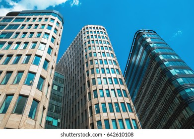 Modern skyscrapers buildings of business center