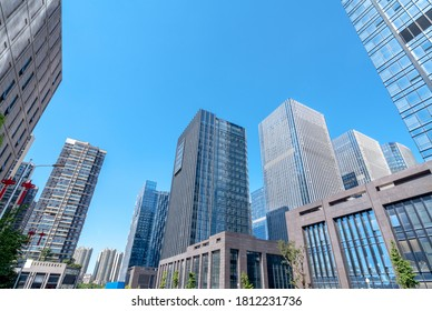Modern skyscrapers in the business district, Guiyang, China.