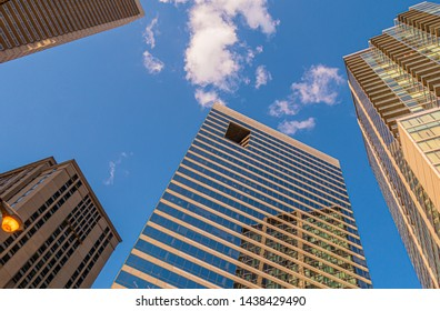 Modern skyscrapers at Chicago downtown - CHICAGO, ILLINOIS - JUNE 12, 2019