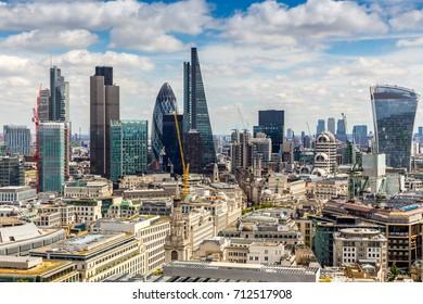 Modern skyscrapers in London
