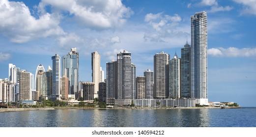 Modern skyscrapers in Panama City