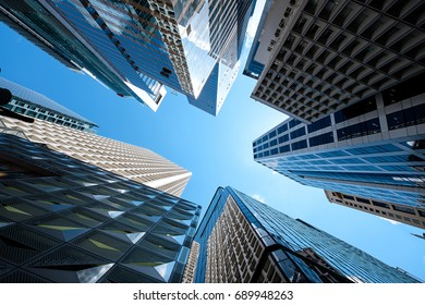 Modern skyscrapers shot with perspective