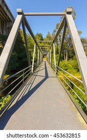 Modern small footbridge iron