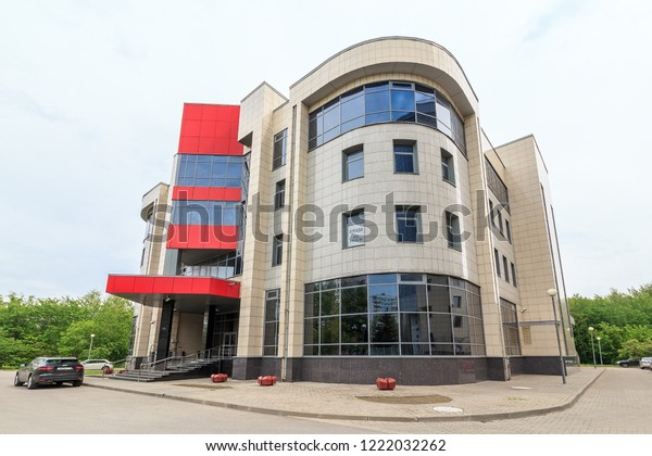 Modern Small Fourstory Office Building City Buildings Landmarks Stock Image 1222032262