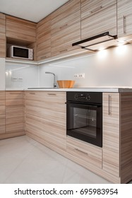 Modern small kitchen in apartment