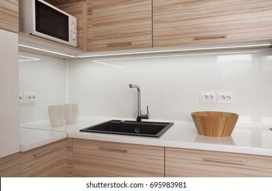 Modern small kitchen. Detail.