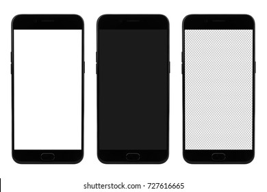 Modern smart phone on blank screen for mockup