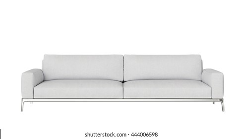 Modern Sofa 2 seat isolated on white background