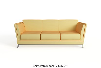 Modern sofa. Isolated on white background.3d rendered.