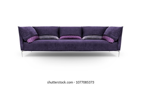Modern sofa on white background, including clipping path