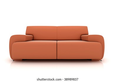 Modern sofa on White Background