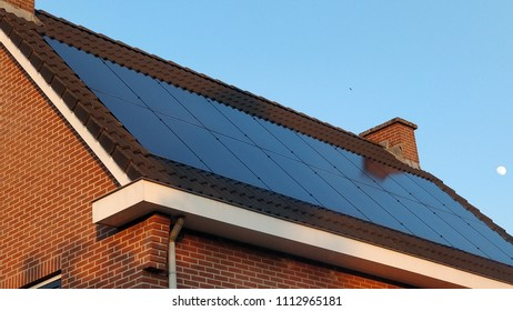 Modern solar roof in the Netherlands