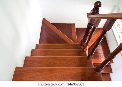 Modern space wooden stairs