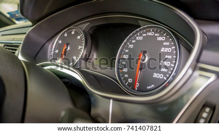 Modern Sport Car Meter Panel Stock Photo Edit Now 741407821
