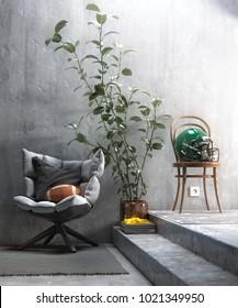 Modern sports themed living room