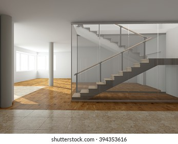 Modern staircase to the second floor