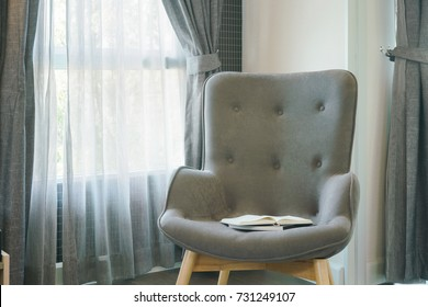 Modern style armchair in the living room