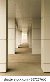Modern style building blocks supported with diminishing perspective