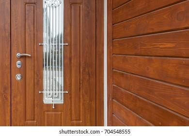 Modern style metallic door handle on wooden door & Shut Door Images Stock Photos \u0026 Vectors   Shutterstock