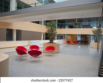 Modern style office hospital waiting room reception