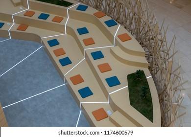 Modern Style Seating Arrangement for Seminar audience, Yas Mall Abu Dhabi