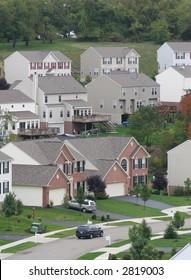 Modern suburban housing.