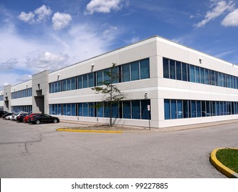 Modern suburban low rise office building