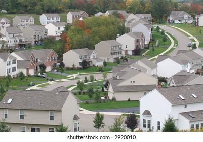 Modern suburban neighborhood.