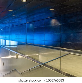The modern subway of Hamburg, Germany .