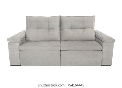 modern suede couch sofa  isolated on white background