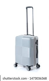 Modern suitcase on a white background