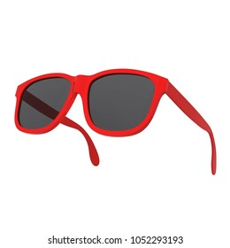 Modern sunglasses. 3d illustration isolated on white background