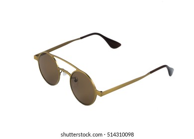 Modern sunglasses isolated on white.