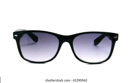 Modern sunglasses over white