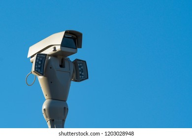 Modern surveillance camera with side-mounted infrared lights