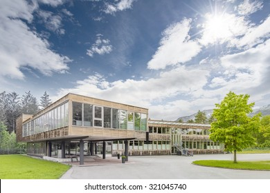 Modern sustainable and ecological timber office building