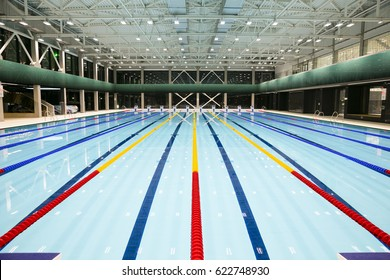 a modern swimming pool hall