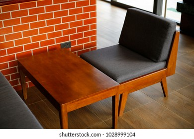 Modern table and chair photography.