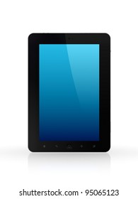 Modern tablet pc.Isolated on white background.3d rendered.