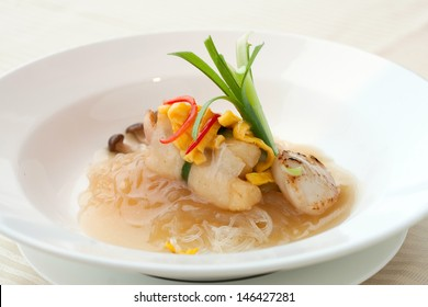 Modern take on seafood noodles