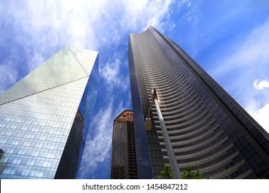 Modern tall buildings in downtown Seattle
