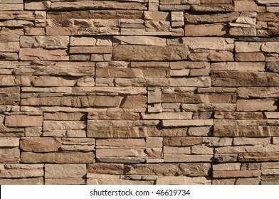Modern Tan Stone Background with mixed size stone