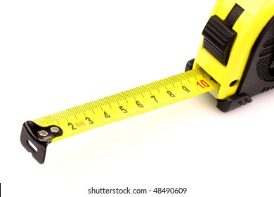 modern tape measure on a white background