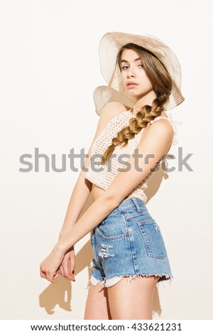 5629f727768b3 Modern Teenage Girl Long Blonde Braided Stock Photo (Edit Now ...