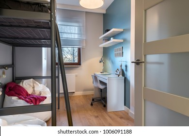 Modern teenager room with bunk bed