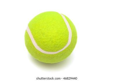 modern tennis ball on a white background